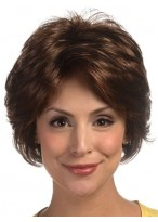 Cool Short Synthetic Feathery Layered Style Lace Wig