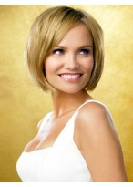Chin-length Straight Lace Front Remy Hair Wig