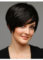 Short Black Human Hair Wig