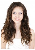 Layered Long Synthetic Lace Front Wavy Wig