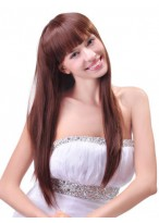 Long Sweet Straight Remy Human Hair Wig