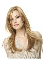 Charming Long Straight Human Hair Lace Wig