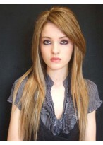 Admirable Long Human Hair Lace Front Wig