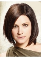 100% Human Hair Bob Layered Hairstyle Lace Front Wig