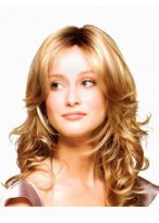 Centre Parting Hairstyle Synthetic Wavy Lace Wig
