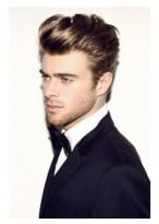 Wavy Full Lace Short Remy Human Hair Men Wig