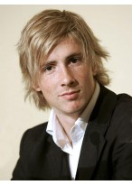 Short Blonde Wavy Remy Hair Mens Wig