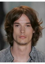 Lace Front Wavy Human Hair Wig For Men