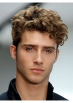 Short Soft Wavy Synthetic Wig For Men