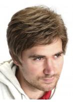 Full Lace Wavy Human Hair Men Wig