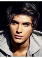 Gorgeous Human Hair Full Lace Short Men Wig