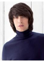 Elaborately Straight Human Hair Capless Wig