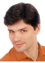 Hand-Tied Full Lace With Pu Mens Toupee