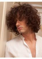 Capless 100% Indian Remy Hair Mens Wig