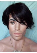 Perfect Short Synthetic Capless Wig For Man