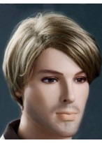 Stylish Soft Blonde Short 6 Inch Men Wig