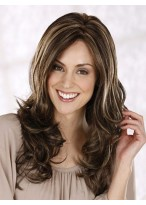 Long Centre Parting Layerd Wavy Wig