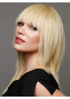 Layers and Full Blunt Bang Synthetic Wig