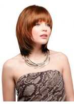Collar Length Layers Synthetic Wig