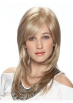 Layered Light Blonde Lace Front Synthetic Wig