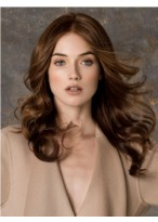 Soft Long Wavy Monofilament Brown High Quality Wig