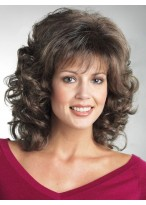 Wavy Synthetic Mid-Length Wig