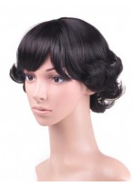 Excellent Wavy Capless Synthetic Short Wig