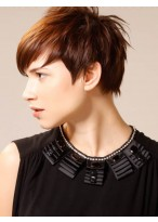Attractive Short Straight Boycut Synthetic Wig