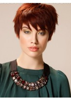 Attractive Synthetic Capless Wig With Short Straight Style