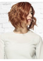 High Quality Medium Wavy Capless Synthetic Wig