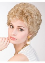 Synthetic Curly Medium Length Lace Front Wig