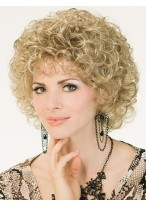 Short Curly Stylish Capless Synthetic Wig