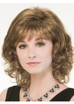 Medium Length Excellent Wavy Capless Wig
