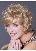 Short Synthetic Wavy Cute Capless Wig