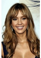 New Wavy Brown Fashionable Capless Synthetic Wig