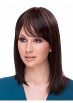 Charming Synthetic Straight Medium Length Wig
