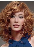 Medium Length Impressive Wavy Synthetic Wig