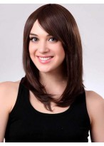 Nice-looking Straight Medium Length Capless Synthetic Wig