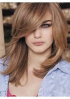 Pleasant Straight Medium Length Capless Synthetic Wig