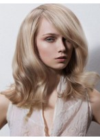 Magnificent Wavy Medium Length Lace Front Synthetic Wig