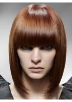 Modern Straight Medium Length Capless Synthetic Wig