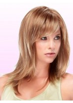 Mid-Length Capless Synthetic Wig