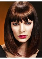 Pleasant Straight Capless Synthetic Wig