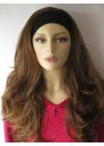 Synthetic Long Layered Wavy 3/4 Wigs