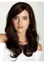 Graceful Long Wavy Remy Human Hair 3/4 Wig
