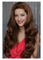 Long Loose Curls Capless 3/4 Wig