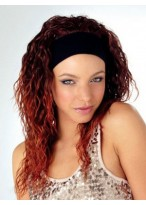 Softly Crimped Synthetic Band 3/4 Wig