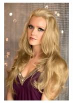 Long Soft Loose Wavy Blonde 3/4 Wig