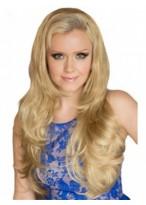 Alluring Long Wavy Blonde 3/4 Wig