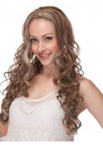 Lovely Wavy Capless Long Synthetic 3/4 Wig